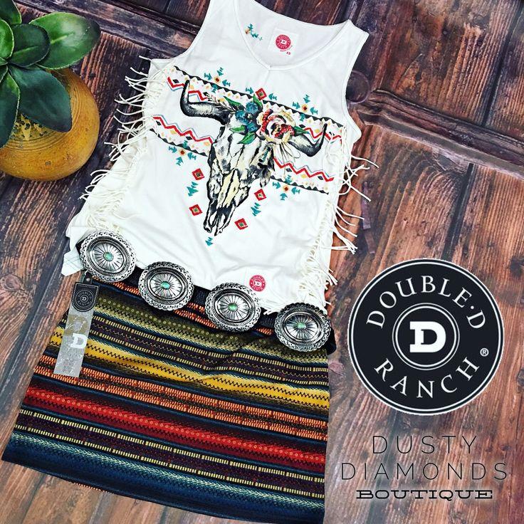 Double D Ranch Les Gauchos Mini Skirt - Dusty Diamonds Boutique