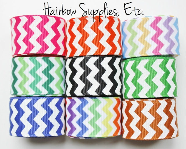 Grosgrain Chevron Ribbon