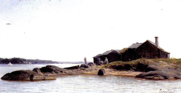 Kuva albumissa EERO JÄRNEFELT - Google Kuvat.  Vasikkasaari, Kuopio 1884  RETRETTI 1986.