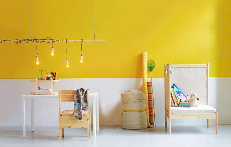 Wall painting idea for children's room. Anna-Kaisa Melvas, photo Tuomas Kolehmainen / Glorian koti