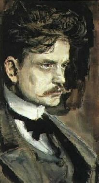 Jean Sibelius, the Finnish national composer, by another great Finn, painter Akseli Gallén-Kallela Sibelius is not really a thing, but he represents Finland. ♥