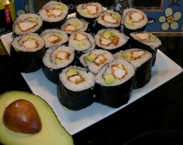 Crumbed Chicken Sushi!!!