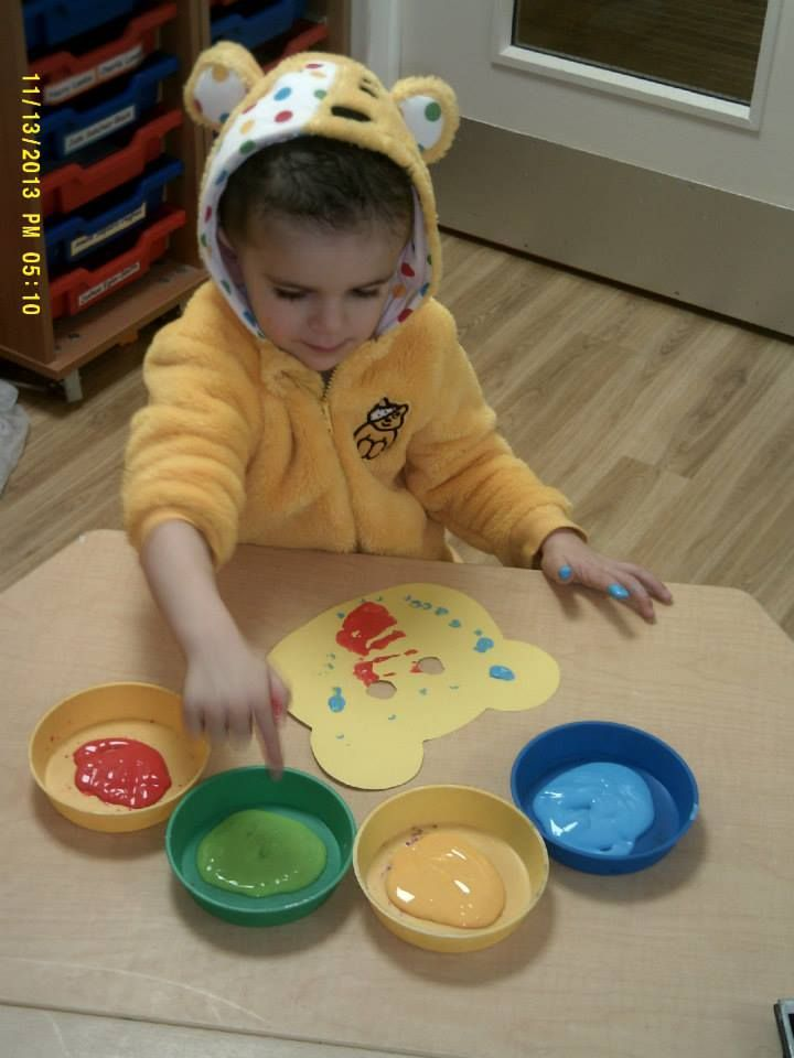 Children at Kiddi Caru Peterborough got in the Children in Need spirit by painting Pudsey the bear masks.