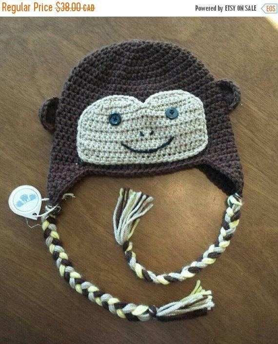 Retrouvez cet article dans ma boutique Etsy https://www.etsy.com/ca-fr/listing/258026811/tuque-de-singe-en-tricot-bonnet-animal