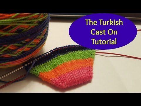 Här är en väldigt bra video, med ett enkelt sätt att lägga upp maskor för en Toe up socka, och att öka maskantalet till önskat antal maskor...