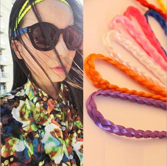 Woman Hairpiece Stretch Headband Hair Band Braid Tail Plaited Hair Extensions #New cute headband styles