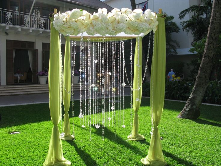 95 best beach wedding arch images on pinterest backdrops backyard like hanging crystal find this pin and more on beach wedding arch junglespirit