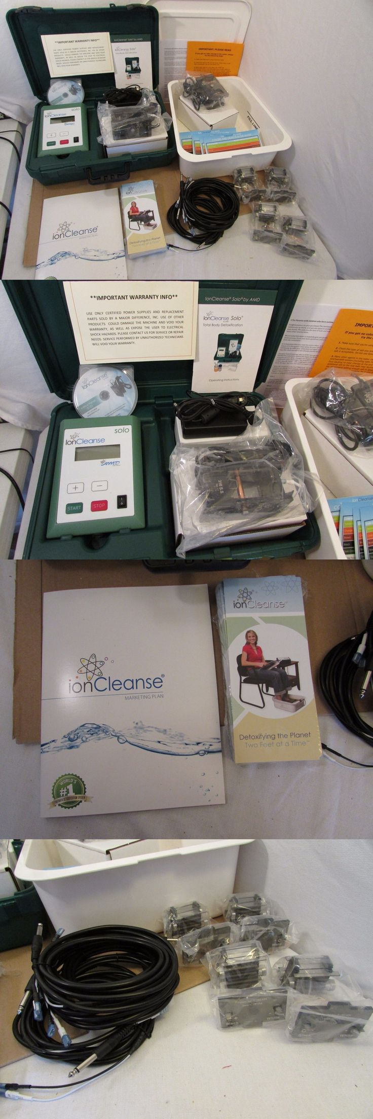 Ion Foot Baths: Amd Ioncleanse Solo Ionic Detox Foot Bath Kit Ion Cleanse - Bundle W Extras -> BUY IT NOW ONLY: $1825 on eBay!