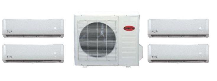 Thermopompe murale Multizone Direct Air  – Efficacité énergétique SEER 23 – Unité disponible en 9000, 12000 et 18000 24000 BTU. – Permet le branchement jusqu'à 4 unités.