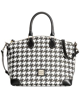 Dooney & Bourke Houndstooth Satchel at $218 this is the perfect all around handbag.