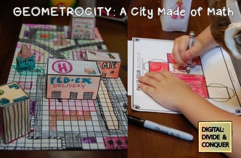 A fun activity that incorporates map skills as well as geometry knowledge.