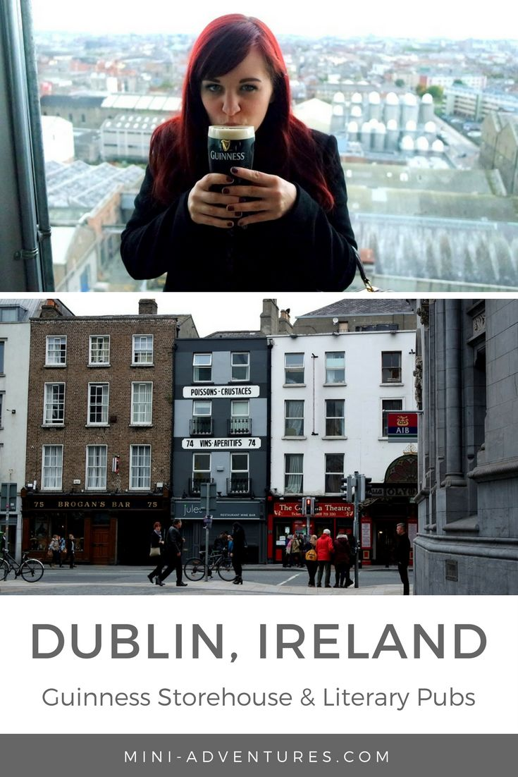 Spending a weekend in Dublin? Pay a visit to its best-known export, then explore more boozy adventures with a literary pub crawl!