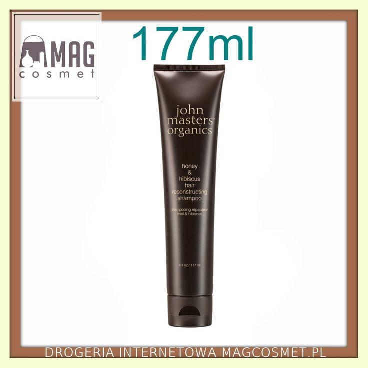 John Masters Miód & Hibiskus Szampon Regenerujący 177ml Pielęgnacja włosów - szampony naturalne