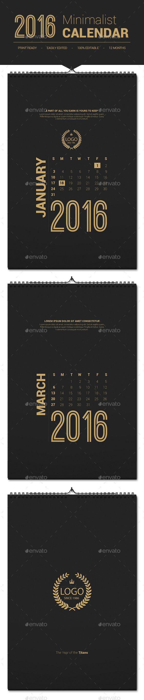 2016 Calendar Printable #calendar #printable #2016
