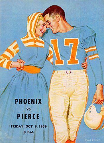 10/9/1959 Phoenix College Bears vs Pierce College Brahmas College Football Program