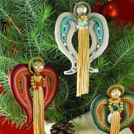 """""""Peace is the first thing the angels sang."""" - John Keble My first every holiday Soutache kit, """"Peaceful Angels Ornaments"""" is now available for PREORDER. http://shop.ameerunswithscissors.com/Peaceful-Angel-Ornaments-Kit-K07.htm"""