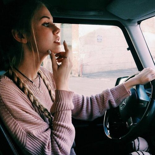 Image via We Heart It #beautiful #car #drive #driver #face #fashion #girl #hair #hairstyle #hipster #indie #moon #necklace #pale #ring #vintage