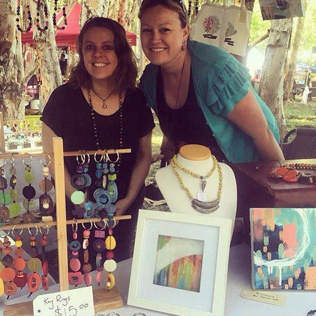 Myself and the lovely Nicole from The Simple Tulip at the October Artist Market in the Vines