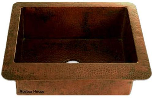 Whether it is restaurant or residential bar, it will benefit from this artisan made copper sink. Colonial style copper bar sinks are a great idea for adding value-added ingredient to the space. Artisan Made Copper Bar Sink by Rustica House. #myRustica