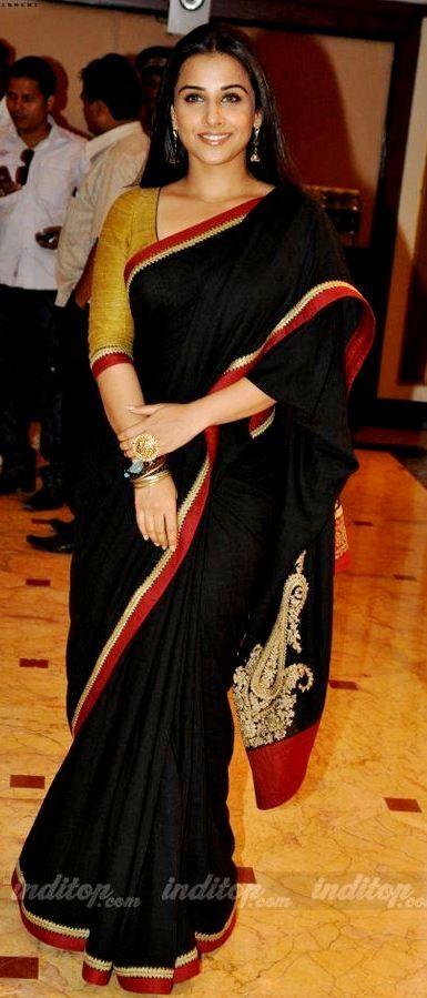Vidya Balan black saree