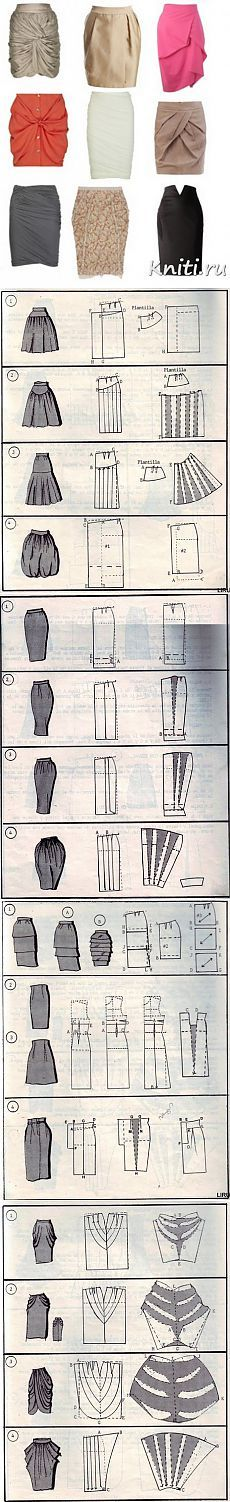 Patterns skirts + video how to sew a skirt in 15 minutes.  - World of knitting and needlework