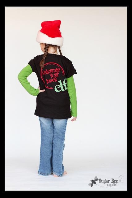 DIY Elf Shirt - Flocked Vinyl - -  Celebrate Your Inner Elf!  @Silhouette America