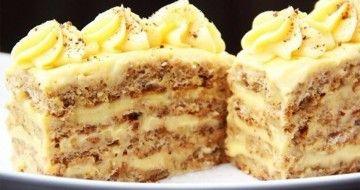 Prăjitură delicioasă cu nuci – rețeta unui cofetar-patiser profesionist!