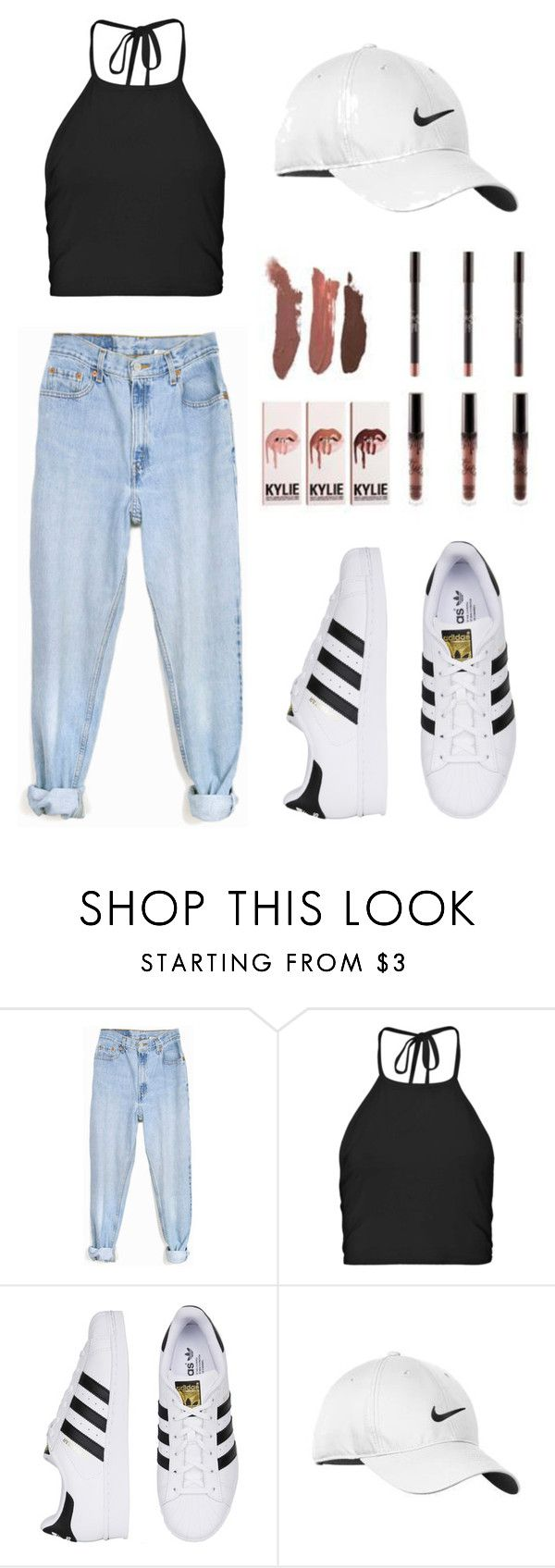 """Baddie"" by elaaphant ❤ liked on Polyvore featuring Levi's, Nike Golf, women's clothing, women, female, woman, misses, juniors, tumblr and baddie"