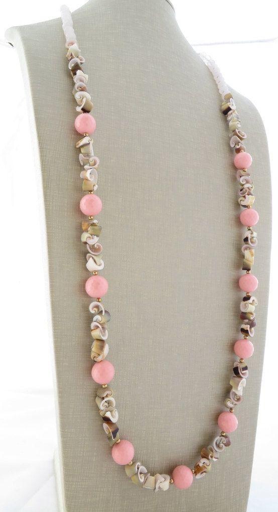 Rosa collana di corallo collana di conchiglie di Sofiasbijoux