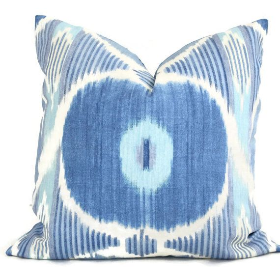 Porcelain Blue Suzani Decorative Pillow Cover by Iman 18x18, 20x20 or 22x22 or lumbar, accent ...