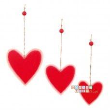 Set 3 inimioare lemn