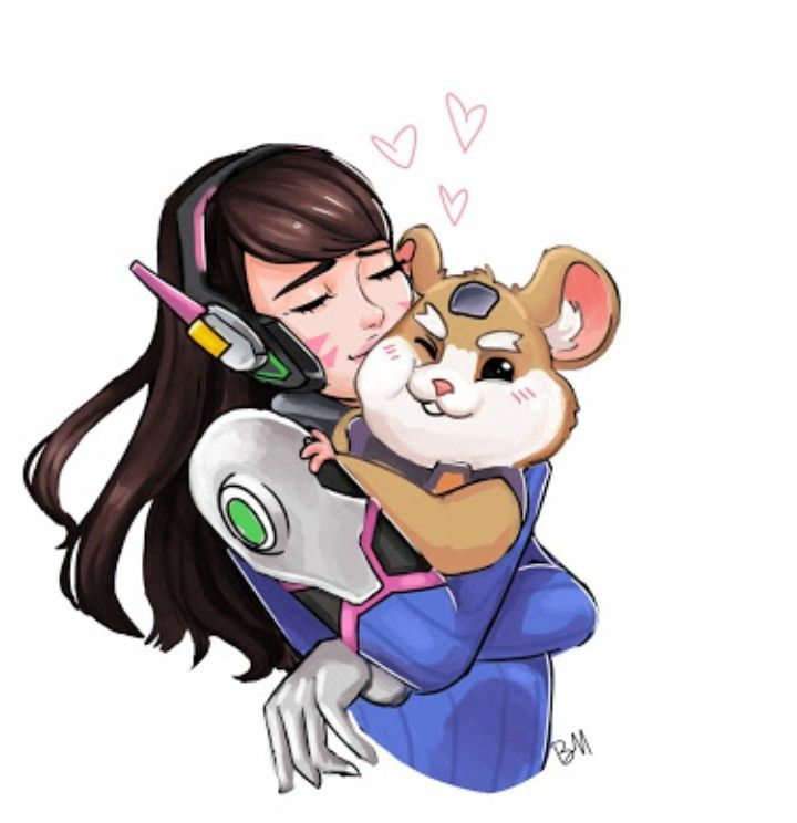 D V A And Wrecking Ball Overwatch Overwatch Drawings