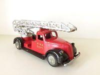 TEKNO TRIANGLE FIRE TRUCK - No. 485 - 1940-1950'S RARE VERY GOOD VINTAGE MODEL