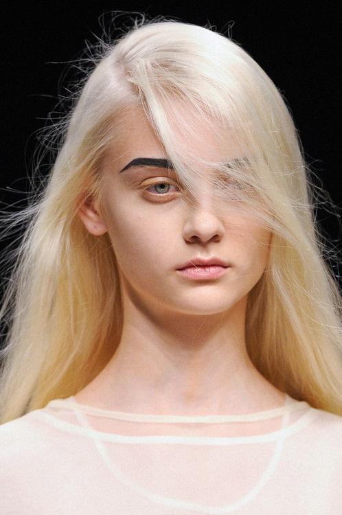 Blonde Hair Dark Brows Teenage Lesbians
