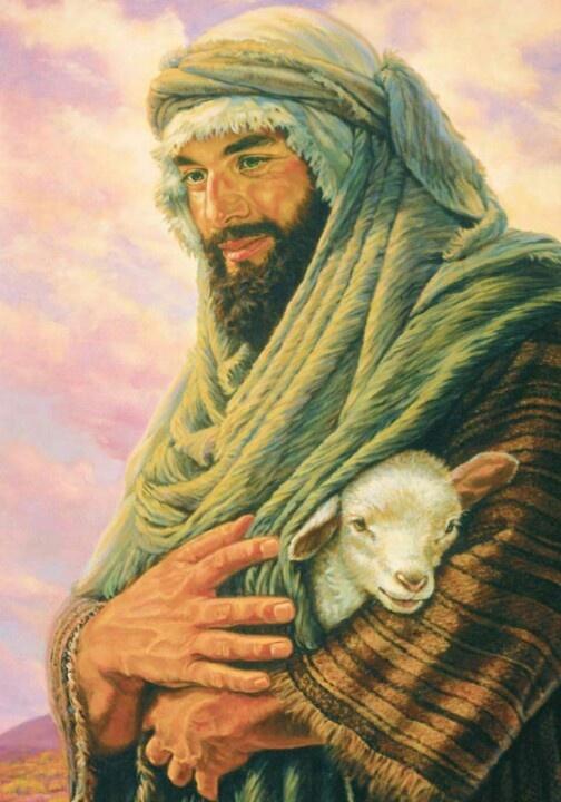 Safe in the arms of my gentle and joyful Shepherd