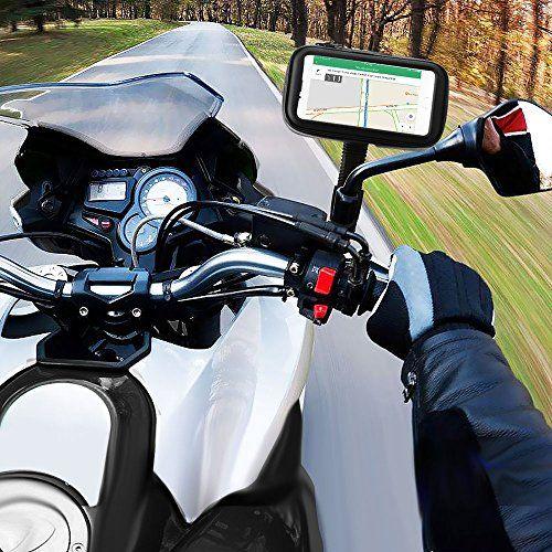 Support Etanche Téléphone, ikalula Support de Téléphone à Moto Vélo Housse à Pchette Transparente à 360°Rotatable pour iPhone 7/7…