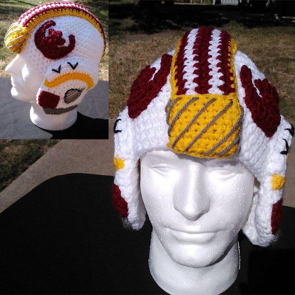 ... Crochet Helmets, Crochet Patterns, Starwars Crochet Hats, War X Wings