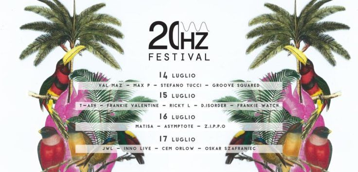 Arriva a Perugia dal 14 al 17 luglio, 20HZ Festival, un progetto giovane ed innovativo fondato sulla musica elettronica come valore artistico e luogo simbolico di connessione tra le persone.