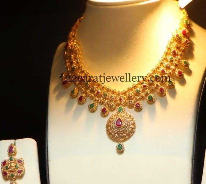 Jewellery Designs: Uncut Diamond Gemstone Necklace