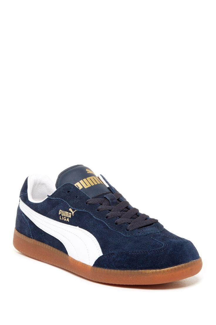 PUMA   Liga Suede Sneaker   Nordstrom Rack   Sneakers, Blue shoes ...