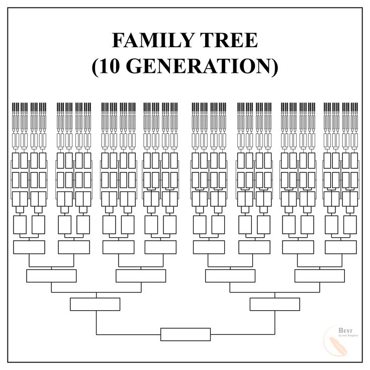 Free Family Tree Template  U2013 Pdf  Excel  Word  U0026 Google Doc