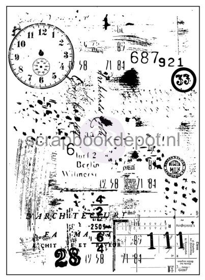 Prima Marketing Salvage District - Clock Clear Stamp