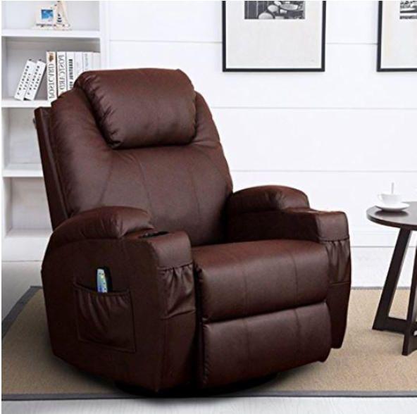 Leather Sofa Chair, Big Man Lounge Chair