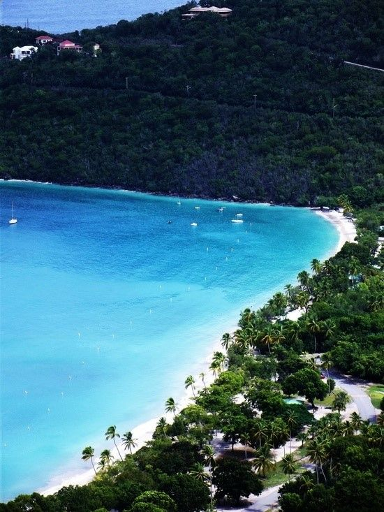Megans Bay Beach  St.Thomas U.S this is a great beach white sand blue water Ive been here. foo is good also at the cabana