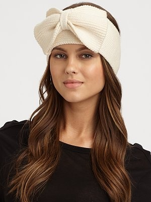 Bow Kate Spade ear warmer! best purchase, put me in the Christmas spirit!