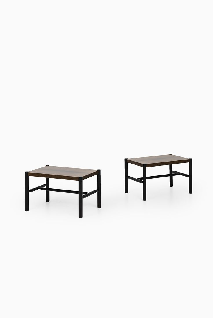 Arne Norell side tables in rosewood at Studio Schalling