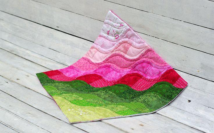 DRUNKARDS PATH - patchworkowa poduszka, podejście drugie | madebywera