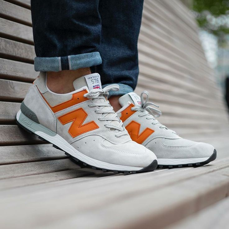 New Balance 576 'Made in England': Grey/Orange