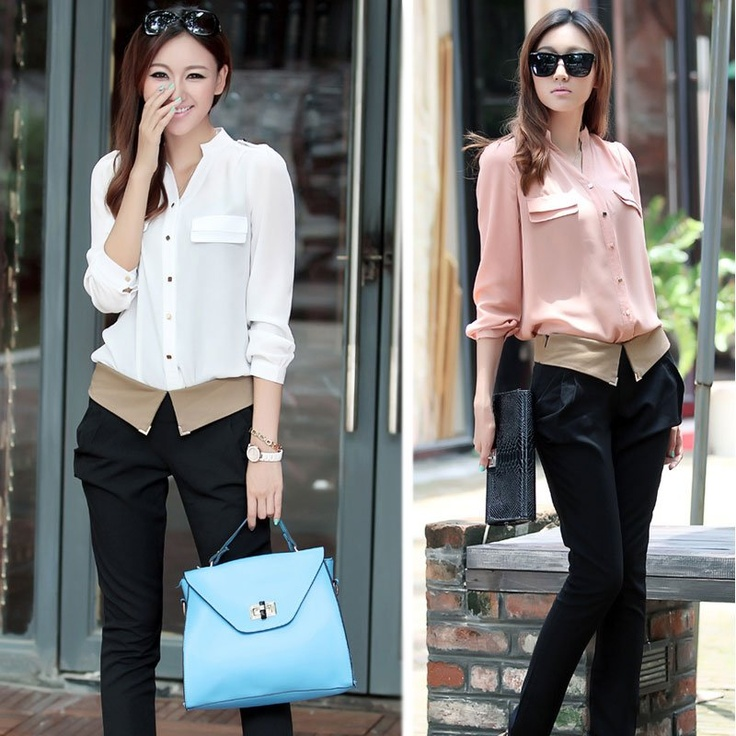 2012 Women New Autumn Korean Style Stand Collar Pocket Shirts For Woman Long Sleeve Ladies Tops And Blouses Free ShippingWomen T Shirts, Woman Long, Sleeve Lady, Pocket Shirts, Woman Shirts, Long Sleeve, Sleeve Women, Women Shirts, Korean Style