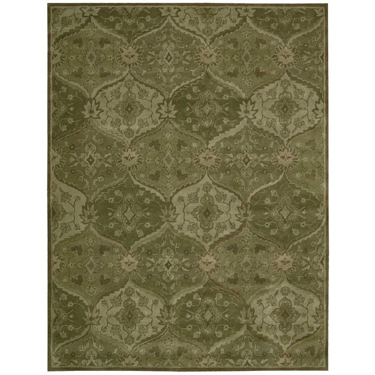 India House Green 8 Ft X 10 6 In Area Rug